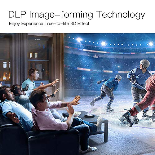 Wireless WiFi DLP Movie Projectors with Android  JmGO 2018 Global New Full HD LED Video Projector  4200 Lumens True 1080P 3D Theater Build-in Stereo Bluetooth Speaker  30000 Hours Life