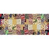 Printodecor 0002-657968644748 Alfombra Vinílica Impresa con Diseño Vintage, Multicolor, 150 x 65 cm