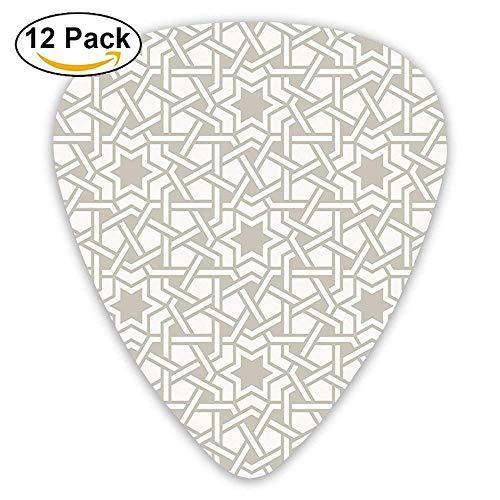 Tangled Modern Simple Artwork Based On Traditional Oriental Arabic Patterns Guitar Picks 12/Pack (Artworks Tangled)