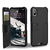 #5: UAG Folio iPhone X Metropolis Feather-Light Rugged [BLACK] Military Drop Tested iPhone Case