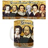 Lustige Kaffee Tasse Becher Great British Classic Writers Funny Design Novelty Gift Mug