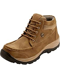 AXONZA Mens And Boys Casual Stylish Synthetic Leather Outdoor Boots Shoes Boots For Men