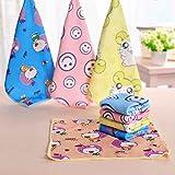 meisijia 30 * 30 cm Platz Handtücher Microfaser Stoff Handtuch Hand Gesicht Handtücher für Kinder Erwachsene zufällige farbe
