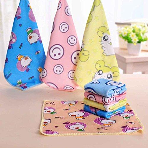 Providethebest 30 * 30cm Quadrat Handtücher Mikrofaser Stoff Handtuch Hand Gesicht Handtücher für Kinder Erwachsene Gelegentliche Farbe 30 * 30cm