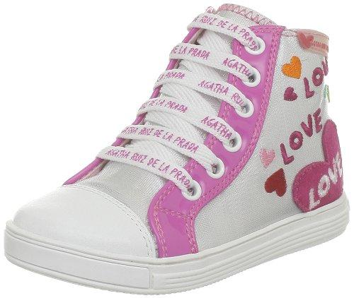 Agatha Ruiz De La Prada Poum, Chaussures montantes fille Argent (A-Plata)