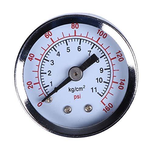 DarweirlueD - Manómetro hidráulico de presión de Aire (0-160 PSI, 1/8 Pulgadas)