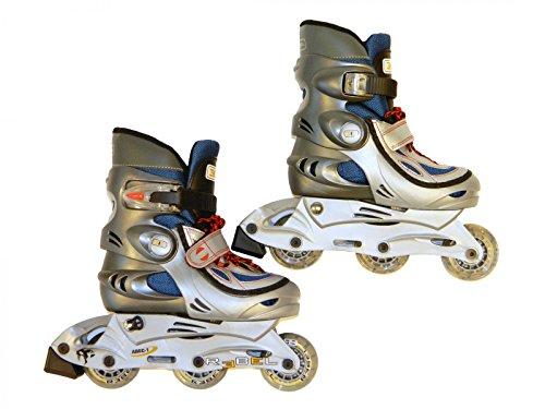 Best Sporting Inline Skates Rebel, Verstellbarer Inliner in der Größe S 30-33, Farbe: blau/grau