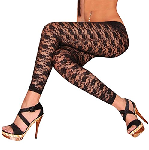 Women's Lace Legging White or Black One Size