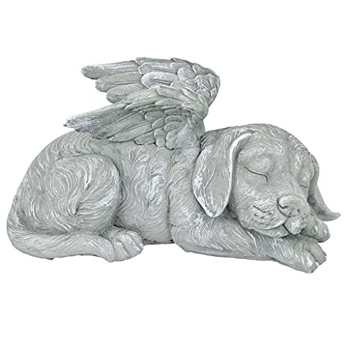 Design Toscano Hundedenkmal, Tierstatue in Engelsform (Figur Hund Engel)
