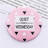 Tery Mini Runde Cartoon Dreieck Muster Kleine Glas Spiegel Kreise für Handwerk Dekoration Kosmetisches Zubehör