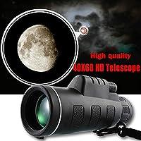 Beautyrain 40X60 High Power Outdoor Fernrohr Fotografieren Verwenden Sie das Allgemeine Teleskop Vergrößerung des Instruments 40 Uhr kann direkt eine Hand halten, Mit Kompass enthalten
