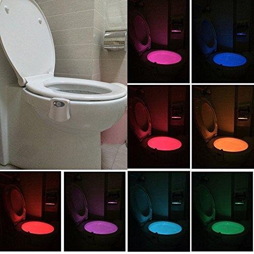 7' X 9 Grün (WC Nachtlicht, LED Toilette Licht WC Lampe mit Bewegungssensor Batteriebetriebenes Licht Toilettenlicht Toilettenbeleuchtung für Kinder Eltern im Badezimmer, Hause)