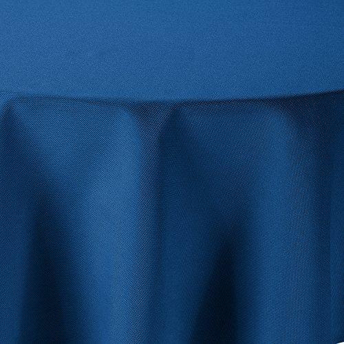 amp-artshop Tischdecke Leinen Optik Oval 135x180 cm Blau - Farbe, Form & Größe wählbar mit Lotus...