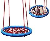 Unbekannt Nestschaukel / Netzschaukel - rund Ø 85 cm - bis 100 kg belastbar - Seile 18 mm stark - Swing Schaukel - Tellerschaukel - Gitterschaukel - für Außen + Innen -..