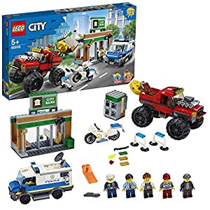 LEGOCityRapinasulMonsterTruckconFurgone,MotociclettaeMattoneMagnetico,SetdaCostruzione,60245 5702016617795 LEGO