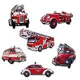 Feuerwehr Extra Starke Magnete für Glas-Magnettafel Set 6-teilig Feuerwehrautos
