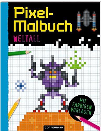 Preisvergleich Produktbild Pixel-Malbuch: Weltall