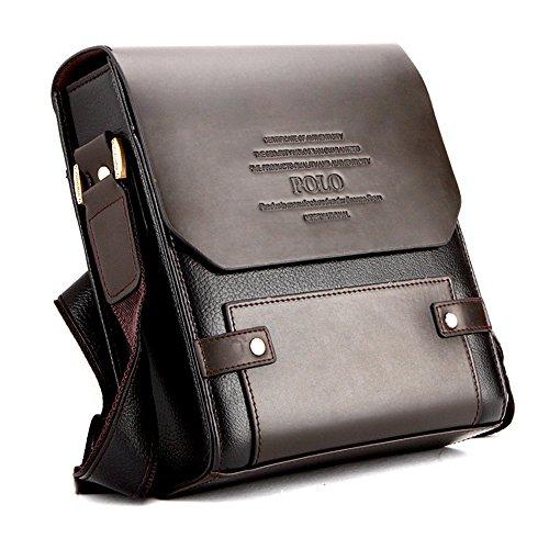 unbrand Herren Taschen Schulter Echtem Leder Messenger Aktentasche Vintage Crossbody Satchel Handtasche Business Bag