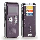 Elefant XU® wiederaufladbar 8GB Stahl Digital Voice Sound Handy Recorder Diktiergerät MP3-Player Audio Record rot Wein Farbe mit integrierter Lithium-Akku