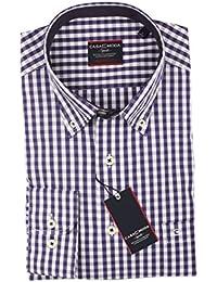 Casa Moda - Comfort Fit - Herren Hemd mit Karo Muster und Button Down Kragen (462722800 A)