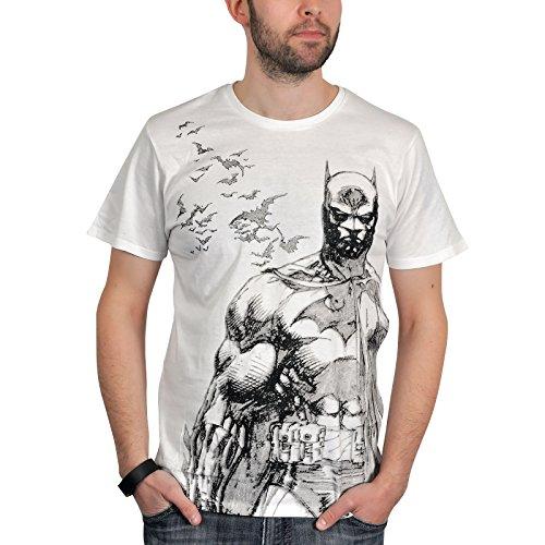 Tshirt homme Batman - Bat fly - Legend Icon - M, Blanc