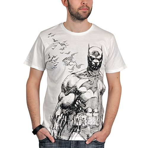 Batman Bat Fly T-Shirt bianco S