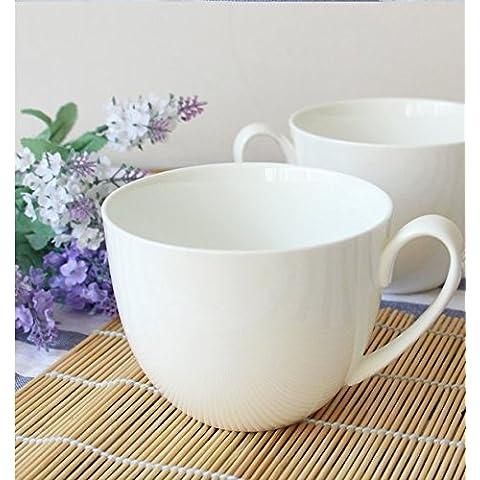 Bone China taza de leche extra grande desayuno taza tazón de agua de gran capacidad tazas de