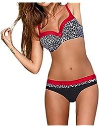 e62cf51a326ec DAY8 Maillot de Bain 2 Pièces Femme Push Up Grande Taille Sexy Tankini  Bikini Bandeau Trikini