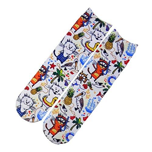 VENMO Cute 3D Printed Socken Unisex Knöchel Socken Casual Cartoon Form Socken Lustige Socken Funny Socks Damen Motive Festival Füßlinge Style Allover Print Sneaker Sportsocken Socken (B) (Print-knöchel-socken)