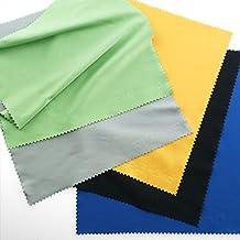 Paños de Limpieza de Microfibra (Conjunto de 5 unidades). Ideales para limpiar gafas, cámeras, iPads, tabletas, pantallas LCD y otras superfícies delicadas. Dimensiones 20 x 20 cm. Colores variadas