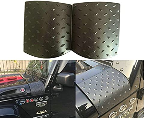 Sunluway 2015 Latest Durable Black Cowl Body Armor - Pair For Jeep Wrangler Rubicon Sahara Jk & Unlimited 2007-2015 (Latest Upgrade Version) by Sunluway