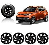 #10: Autorepute Premium Quality Car Full Black Wheel Cover Caps 14