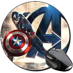 Capitan America Captain America C Alfombrilla Redonda Round Mousepad PC