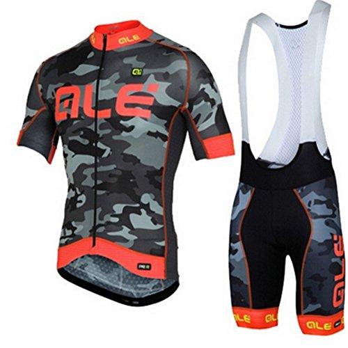 Maglia da ciclismo - Maglia da bici a manica corta traspirante con pantaloncini in gel con imbottitura 3D in gel per abbigliamento da bici Pro Team
