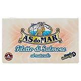 Asdomar - Filetto di Salmone al Naturale, Ricco di Omega 3-2 pezzi da 115 g [230 g]