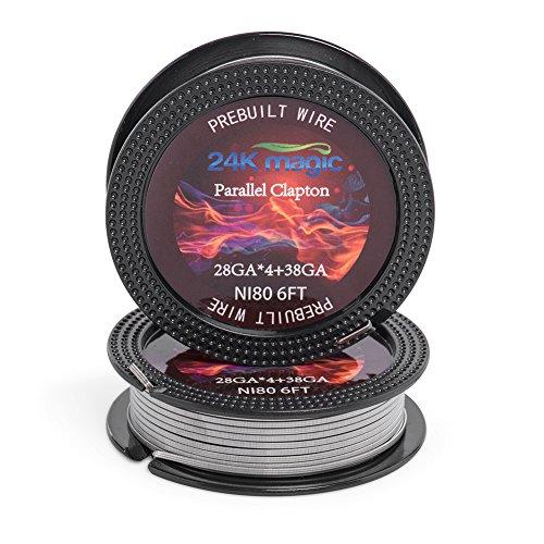 Drähte 6 Arten von Gauge AWG für Diy Vape Benutzer-6ft spool (28g*4+38g)-Parallel Clapton ()