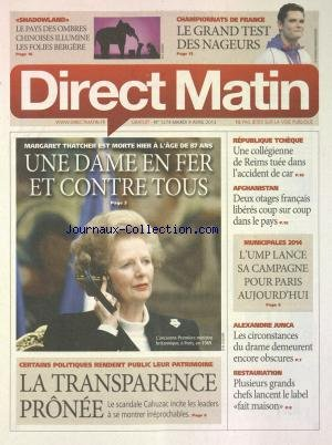 DIRECT MATIN [No 1349] du 19/09/2013