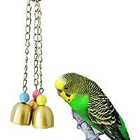Kauspielzeug für Vögel, süße Glocken, für Papageien, Aras, Graupapageien, Wellensittiche, Kakadus, Sittiche, Nymphensittiche, Unzertrennliche, Finken, Käfigspielzeug