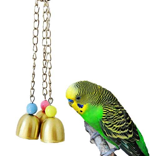 Kauspielzeug für Vögel, süße Glocken, für Papageien, Aras, Graupapageien, Wellensittiche, Kakadus, Sittiche, Nymphensittiche, Unzertrennliche, Finken, Käfigspielzeug (Vogel Glocke)