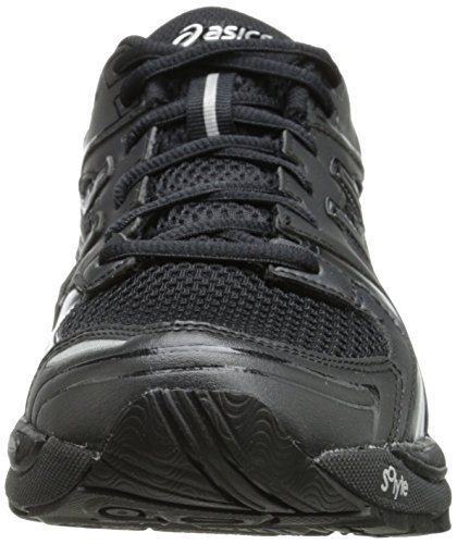 Asics gel-tech Walker Neo da donna Q468N scarpe, nero/nero/argento, 6 Black/Black/Silver