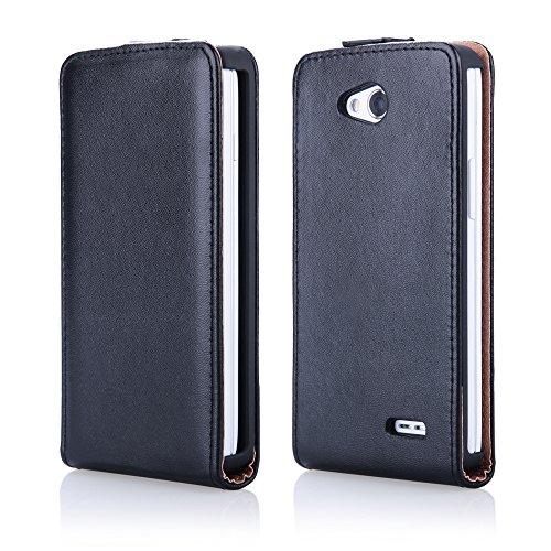 EGO® Slim Flip Case für iPhone 6 Plus 5,5'', Schwarz Schale Klapp Tasche Etui Schutz Hülle Cover Gehäuse …