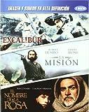 Pack: Excalibur (1981) +La Mision (The Mission) (1986) + El Nombre De La Rosa ((Le Nom De La Rose)) (1986) (3 Bluray) *** Region 2 *** Import ***