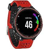 For Garmin Forerunner 230/235/220 , Transer® Correa banda de reloj de silicona suave reemplazo para Garmin Reloj Forerunner 230 / 235 / 220 (Rojo)