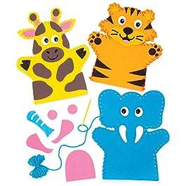 Baker Ross Puzzle in legno con animali della giungla (confezione da 4) – Creazioni fai da te i