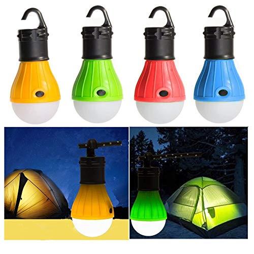 Lijincheng Laterne Bewegliche Laterne Zelt-Licht-LED-Lampe Notlampe wasserdichte hängend Haken-Taschenlampe for Camping 4 Farben (Color : Yellow) -