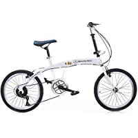 Grimk 20 Zoll Klapprad Faltrad Aluminium Damen Leicht Falträder Klappräder Männer Faltbar Fahrrad Erwachsene Mit Kinder…