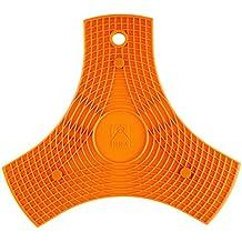 BRA Safe - Salvamanteles de silicona multiusos imantado, 2 unidades, color naranja