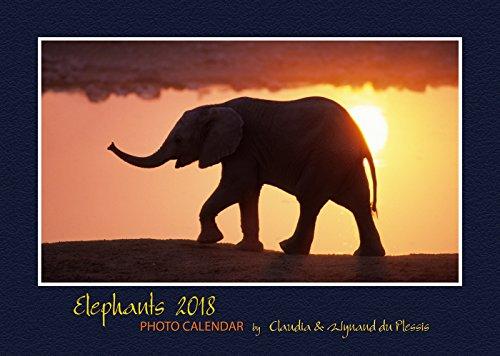 Elephants 2018: Photo Calendar, A3 Wandkalender, Elefanten Kalender, Namibia Kalender