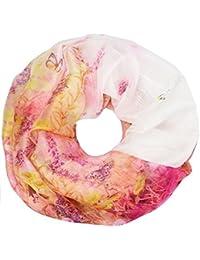 caripe leichter Damen Loop-Schal Blumen Paisley Schlauchschal Sommer-Accessoire- craha