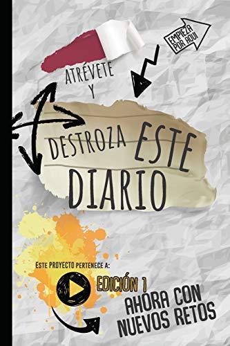 Destroza este Diario: Con nuevos retos-Rompe este diario en cualquier  sitio, creatividad, arte, Craft, y mucha imaginación